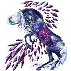 Winged unicorn Arabian Horse Cherry bay