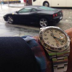 So I took the car today.. #Ferrari #f430 #wristporn #tidssonen #womw (but not that one ) by mareleo23
