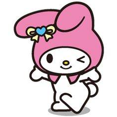 Girls!! Many of you asked us for My Melody stickers. So here they are! And just look at all those adorable poses! ... I think I'm falling in love!!