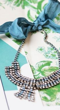Blue Circa. '50s necklace, from Ashby's    PHOTO BY AMY PENNINGTON AS SEEN IN 417 BRIDE SUMMER 2009