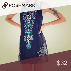 Urban outfitters ecote dress Open back cutout printed dress Urban Outfitters Dresses Mini