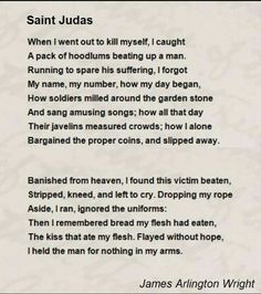 saint judas poem