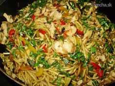 Ping-pong (fotorecept) Pasta Noodles, Chicken Recipes, Food And Drink, Cooking Recipes, Meat, Ethnic Recipes, Vietnam, Lasagna, Macaroni