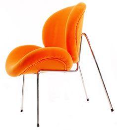 Modern Retro Slice Chair (Orange)