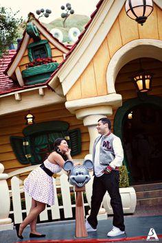 California Adventure and Disneyland Engagement Photos: Jessica + Tony