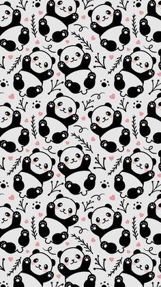 Pandas wallpaper 🐼🐼 Bookcases or small pop of color. Panda Wallpaper Iphone, Tier Wallpaper, Unicornios Wallpaper, Cute Panda Wallpaper, Drawing Wallpaper, Cute Disney Wallpaper, Kawaii Wallpaper, Cute Wallpaper Backgrounds, Animal Wallpaper