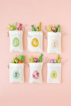 DIY easter treat bag tutorial with printable