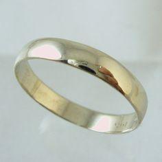 Man Wedding Band,14 karat  Recycled gold ring,  Wedding Band, Woman Wedding Band. unisex wedding band on Etsy, $180.00