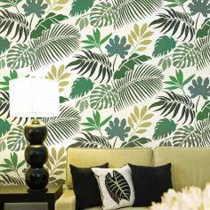 1-Tropical-wallpaper-stencil-leaf-stencils-palm-leaves-print