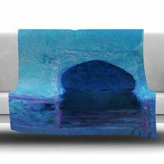 East Urban Home Chefchaouen-Blue City by Oriana Cordero Fleece Blanket Size: 80'' L x 60'' W