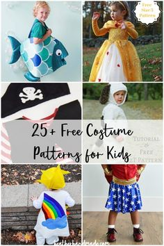 Use one of these free costume patterns to make a fabulous Halloween costume! The costumes are printable PDF patterns to get you inspired! Sewing Blogs, Easy Sewing Projects, Sewing Projects For Beginners, Sewing Hacks, Sewing Crafts, Kid Crafts, Sewing Tips, Sewing Ideas, Craft Projects
