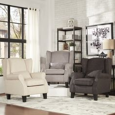 INSPIRE Q Hayes Wingback Linen Chair with Pillow - Overstock Shopping - Great Deals on INSPIRE Q Living Room Chairs