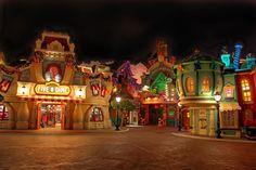 Mickey's Toontown at night. Photo by #MichaelGreening