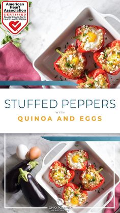 American Heart Association-Certified and just 210 calories per serving, this stuffed pepper recipe will fit flawlessly into a healthy diet.