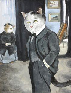 """Diaghilev and his Nanny (Leon Nikolajewitsch Bakst)"" par Susan Herbert"