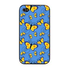 Blue and Gold Butterflies iPhone 4 Snap Case