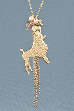 Proud Poodle Charm Necklace - $20 : Fashion Jewelry at LuLus.com