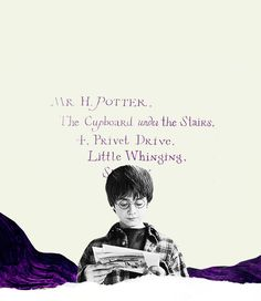 H Potter, the cupboard under the stairs. Harry Potter Quotes, Harry Potter Love, Harry Potter World, No Muggles, The Sorcerer's Stone, Film Music Books, Mischief Managed, Film Stills, Book Fandoms