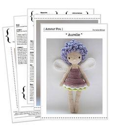 Aurélie the Fairy  Crochet Pattern by Amour Fou
