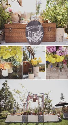 dessert table with custom chalkboard sign  photo by http://jackiewondersblog.com/