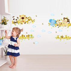 Aliexpress.com : Buy Animal tree Child Cartoon Vinyl Wall Stickers For Kids Rooms Home Decor Art Decals 3D Wallpaper Sofa Bedroom…