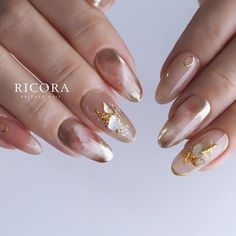 秋/オフィス/デート/女子会/シェル - tunashima_nailのネイルデザイン[No.4618055]|ネイルブック Korean Nail Art, Korean Nails, Gelish Nails, Manicure, Sparkly Acrylic Nails, Japan Nail, Chic Nails, Finger, Japanese Nails