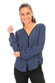 Michael Kors - Camicie - Abbigliamento - Camicia in seta con scollo a V, bottoni…