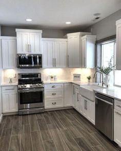 The kitchen that is top-notch white kitchen , modern kitchen , kitchen design ideas! Kitchen Redo, Home Decor Kitchen, New Kitchen, Awesome Kitchen, Kitchen Ideas, Kitchen Colors, Cheap Kitchen, Kitchen Modern, Kitchen Designs