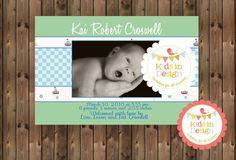 Baby Boys Printable Birth Announcement - Digital Jpg File on Etsy, $18.00 AUD