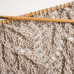 The perfect lacy stitch for that light, summer pattern you've been working on.