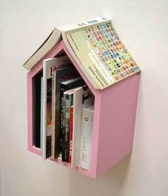 bookshelf by the bed that keeps your place. good idea! DIY, too! by debora