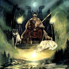 Odin god of the Norse men.