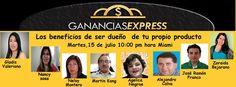 te invito el Martes a las 8pm para que este panel de  expertos te explique la Ventajas de ser Dueño de tu propio Producto nos vemos http://wasanga.com/zoraidabejarano/hangouts-en-vivo/