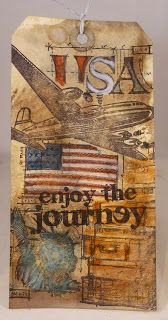 I absolutely love the   Tim Holtz  August tag!     For technique of this tag Tim has   all about it on his blog  HERE .      I made t...