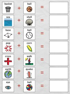"FREE LANGUAGE ARTS LESSON - ""The Compound Word Book"" - 19 page compound word book in the shape of a baseball mitt. Go to The Best of Teacher Entrepreneurs for this and hundreds of free lessons. Fun Classroom Activities, Reading Activities, Word Study, Word Work, English Grammar Worksheets, Kindergarten Worksheets, English Lessons, Teaching Reading, The Words"