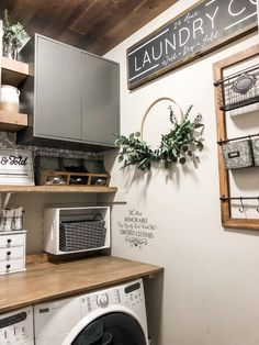 Laundry Room Renovation Reveal - One Room Challenge - CityGirl Meets FarmBoy Laundry Room Shelves, Laundry Room Remodel, Laundry Decor, Small Laundry Rooms, Laundry Room Organization, Laundry Room Design, Decorate Laundry Rooms, Laundry Room Decorations, Organized Laundry Rooms