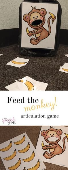Feed the Monkey - speech therapy articulation activity