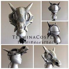 Cubone Skull Mask and Bone Club Cosplay Props - Pokemon Dinosaur Halloween Costume, Halloween Scene, Last Minute Halloween Costumes, Halloween 2019, Diy Costumes, Cosplay Costumes, Pokemon Room, Dinosaur Mask, Instagram Prints