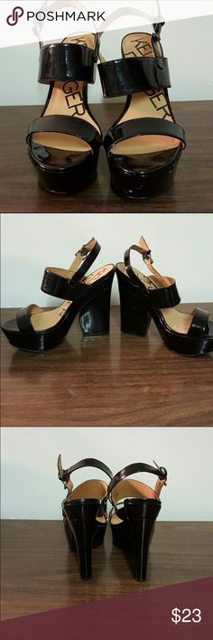 Kelsi Dagger Platform Sandals!! Black patent leather. Kelsi Dagger Shoes