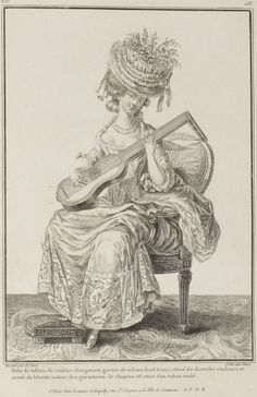 Robe with Chine trimming, 1779
