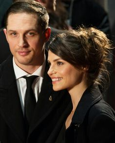 """When asked his idea of the perfect woman, pointed to Charlotte and said, """"She's right there,her name is Charlotte Riley.""""  So sweet!"""