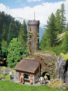 NEW ! HO scale Faller Castle Observation Tower : Model Building KIT # 130291 #FALLER