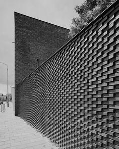 KDV Lentehof Breda - Bedaux de Brouwer Architecten Brick Cladding, Brick Facade, Brick Design, Facade Design, Brick Images, Compound Wall Design, Brick Works, Brick Art, Architectural Materials