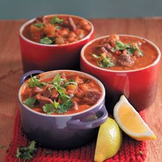 The delicious, warm flavours of Morocco come together in this comforting lamb soup. Beef Recipes, Soup Recipes, Recipies, Our Daily Bread, How To Squeeze Lemons, Perfect Food, Winter Food, Curry, Good Food