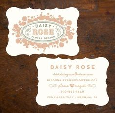 Business cards...love this design!!
