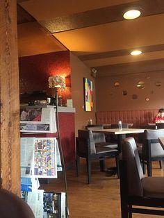 Restaurant interior, Atlas Cafe, 250 6th St, Courtenay, British Columbia