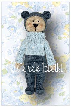 Kuscheltiere - Pepik, Gehäkelte Teddybär - ein Designerstück von KuferekBietki bei DaWanda