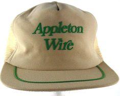 Appleton Wire Works Appleton WI Snapback Trucker Hat Cap NOS 1980s VTG  Hipster… 4c54cc9154d6