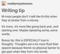 Someone finally said it! I have had a bad speech impediment since I was little and this could not be truer.