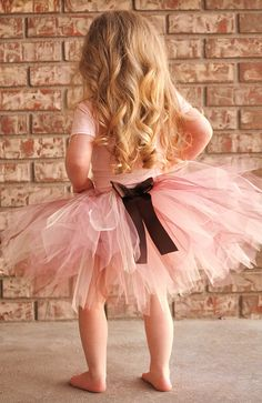 Pink, Cream and Brown Tutu Skirt
